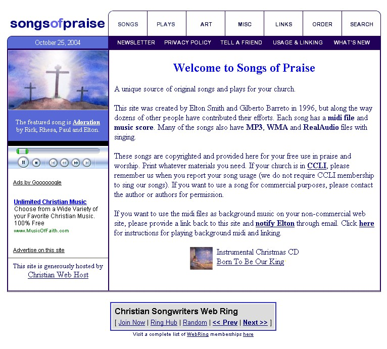Songs of Praise - Frequently Asked Questions